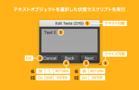Edit Text Pro の機能