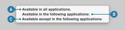 どのアプリでマクロを有効にするかを指定