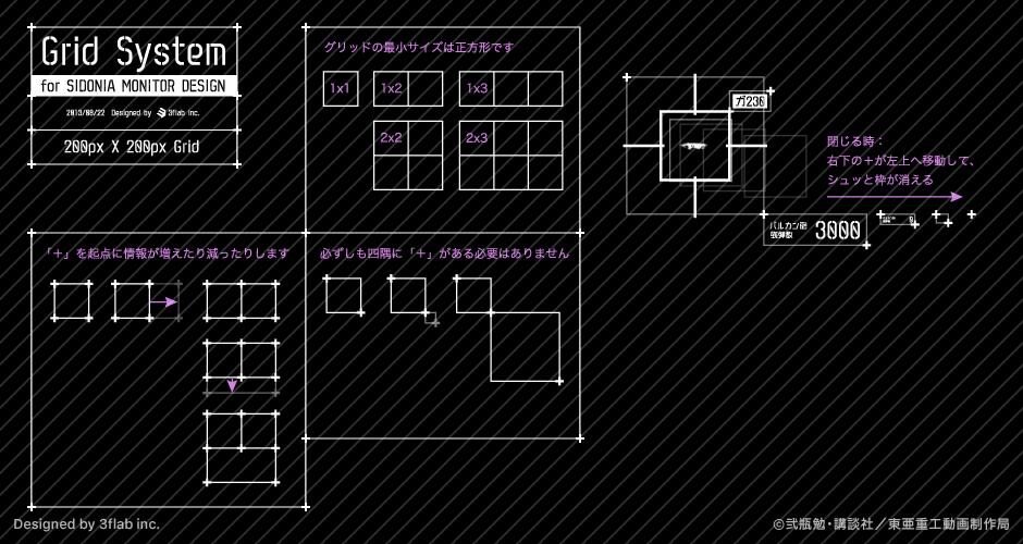 グラフィックで使用したグリッドを生かしたキーアニメーションの提案